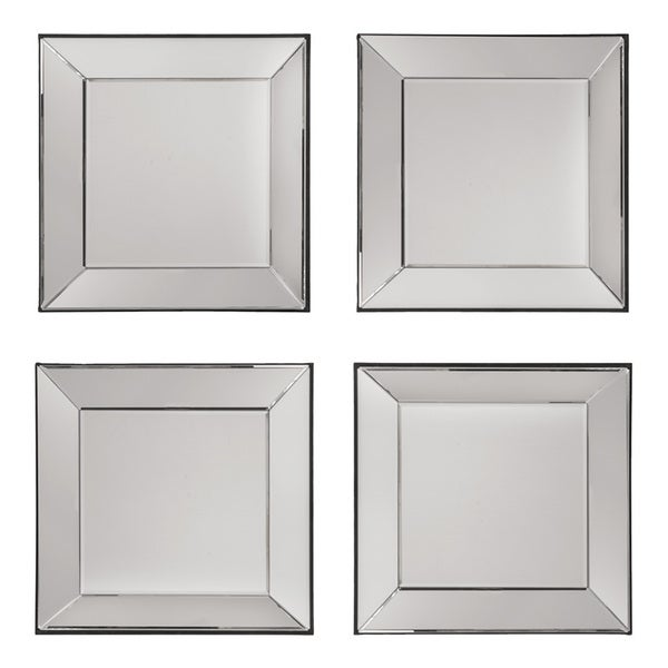 Shop Decorative Square Wall Mirrors (Set of 4) - Silver ...