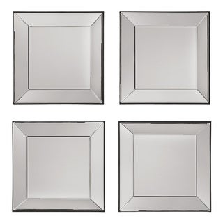 gray wall mirror free standing osp home furnishings decorative square wall mirrors set of 4 silver buy grey online at overstockcom our best