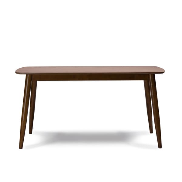 Solid Wood Dining Table By H F: Shop Sacramento Mid-Century Solid Wood Dining Table