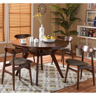 Flamingo Mid-Century Solid Wood 5 Pieces Dining Set
