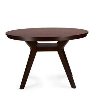 Baxton Studio Montreal Mid-century Dark Walnut Round Wood Dining Table