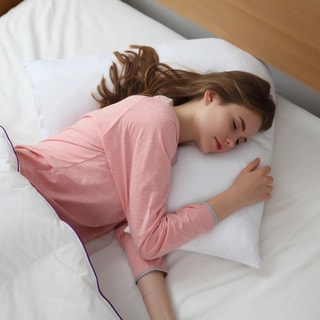Link to Cheer Collection Down Alternative V Shape Pillow - White Similar Items in Pillows