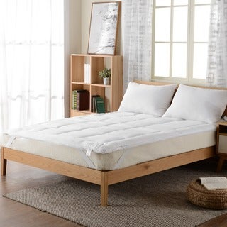 cheer collection down alternative mattress topper fiber bed