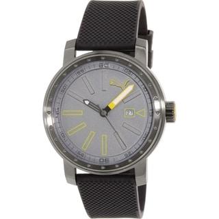 Puma Men's PU103961004 Gunmetal Rubber Quartz Watch