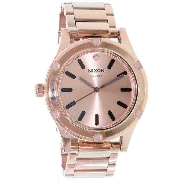 92412518b Shop Nixon Women's Camden Rose Gold Stainless-Steel Quartz Watch - Free  Shipping Today - Overstock - 10172219