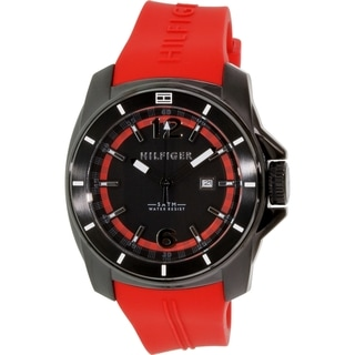 Tommy Hilfiger Men's 1791112 Red Rubber Quartz Watch