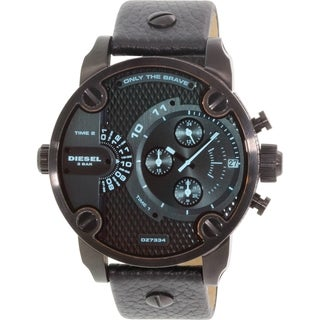 Diesel Men's Little Daddy DZ7334 Black Leather Quartz Watch