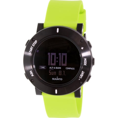 Suunto Men's Core Green Rubber Quartz Watch