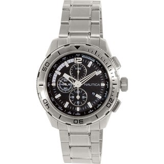 Nautica Men's N22637G Silver Stainless-Steel Quartz Watch