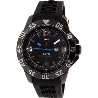 Tommy Hilfiger Men's 1790983 Black Rubber Quartz Watch