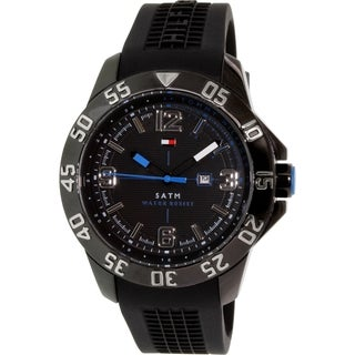 Tommy Hilfiger Men's 1790983 Black Rubber Quartz Watch