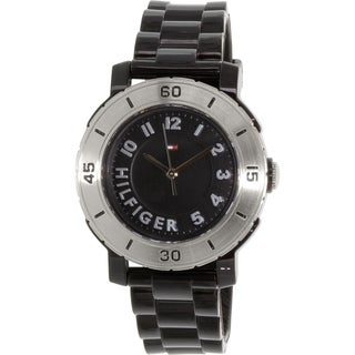 Tommy Hilfiger Men's 1781158 Black Rubber Analog Quartz Watch