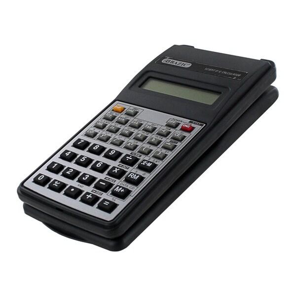 Bazic 10 Digit Black Scientific Calculator With Flip Cover