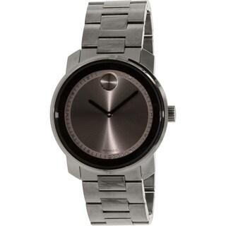 Movado Men's Bold 3600259 Gunmetal Stainless-Steel Swiss Quartz Watch