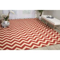 Nourison PortIco Indoor/Outdoor Red Rug (8' x 10'6)