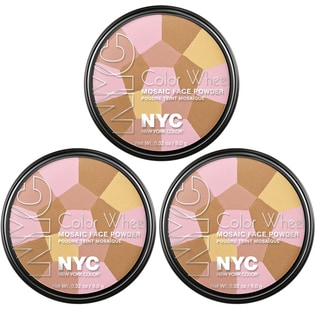 N.Y.C. Wheel Mosaic Bronzed Pink Face Powder (Pack of 3)