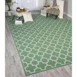 Waverly Sun N' Shade Bubbly Poppy Indoor/ Outdoor Rug by Nourison (7'9 x 10'10)