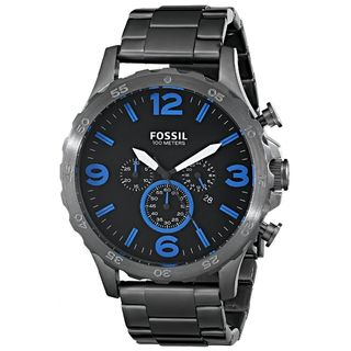 Fossil Men's Nate JR1478 Gunmetal Stainless-Steel Quartz Watch