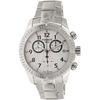 Tissot Men's V8 T039.417.11.037.00 Silver Stainless-Steel Swiss Chronograph Watch