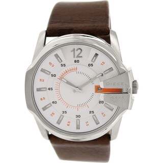Diesel Men's Master Chief DZ1668 Brown Leather Quartz Watch