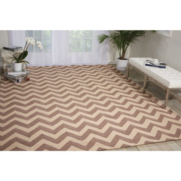 Nourison Portico Indoor/Outdoor Flame Stitch Rug (5' x 7'6)