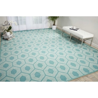 Waverly Sun N' Shade Bubbly Surf Area Rug by Nourison (7'9 x 10'10)