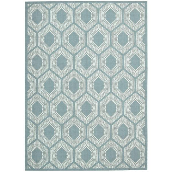 Waverly Sun N' Shade Bubbly Surf Indoor/ Outdoor Rug by Nourison - 7'9 x 10'10