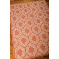 Waverly Sun N' Shade Bubbly Tangerine Indoor/ Outdoor Rug by Nourison - 7'9 x 10'10