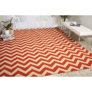 Nourison Portico Indoor/Outdoor Orange Rug (8' x 10'6)