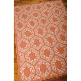 Waverly Sun N' Shade Bubbly Tangerine Area Rug by Nourison (10' x 13')
