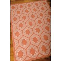 Waverly Sun N' Shade Bubbly Tangerine Indoor/ Outdoor Rug by Nourison - 10' x 13'