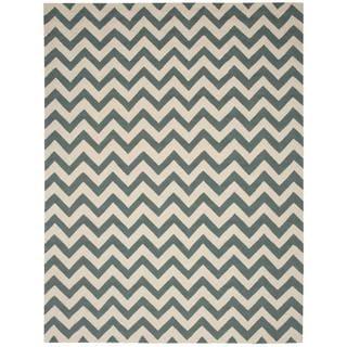 Nourison Portico Indoor/Outdoor Light Green Rug (8' x 10'6)