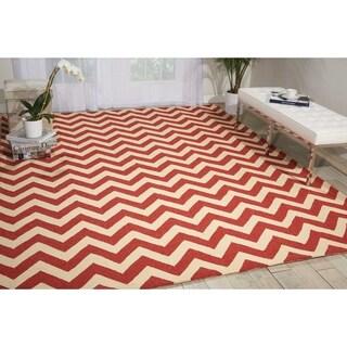 Nourison Portico Indoor/Outdoor Red Rug (5' x 7'6)