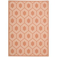 Waverly Sun N' Shade Bubbly Tangerine Indoor/ Outdoor Rug by Nourison - 5'3 x 7'5