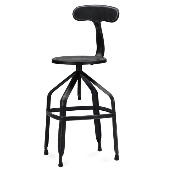 Industrial Metal 26 30 Quot Adjustable Bar Stool By Baxton