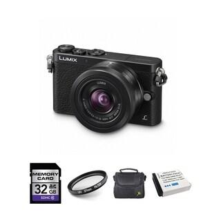 Panasonic Lumix DMC-GM1 Digital Camera with 12-32mm Lens and 2 Batteries/ 32GB Card Bundle