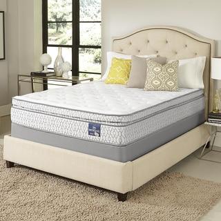 Serta Amazement Pillowtop Split Queen-size Mattress Set