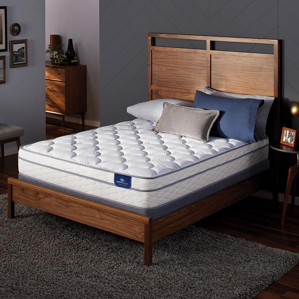 Serta Perfect Sleeper Birchcrest Eurotop Split Queen-size Mattress Set - White/Grey