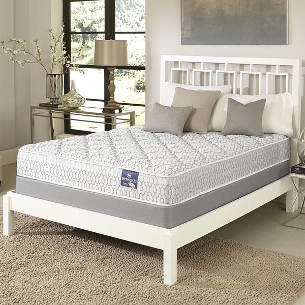 Serta Gleam Plush California King-size Mattress Set - White/Grey