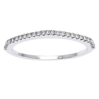 Beverly Hills Charm 10k Gold 1/7ct TDW Diamond Anniversary Stackable Band Ring (H-I, I2-I3)
