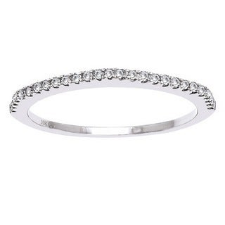 Beverly Hills Charm 10k Gold 1/7ct TDW Diamond Anniversary Stackable Band Ring
