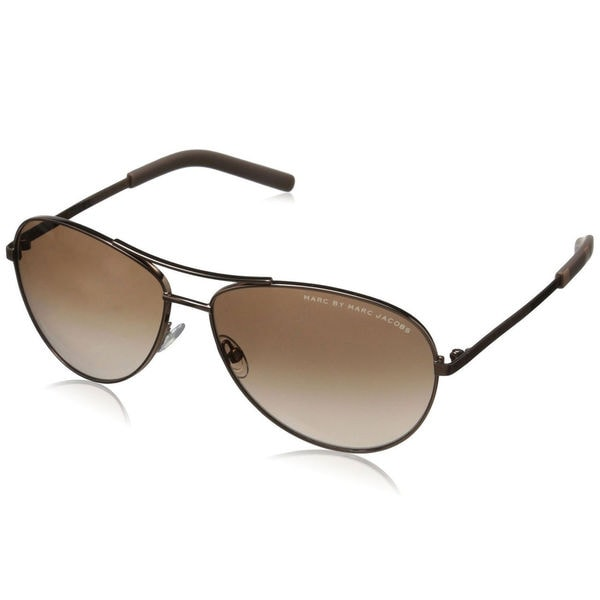 4e5c050ae6 Shop Marc by Marc Jacobs Men s MMJ 343 S Aviator Sunglasses - Gold ...