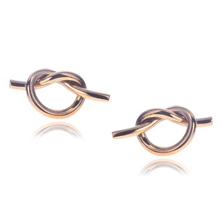 Journee Collection Goldfill Sterling Silver Knot Stud Handmade Earrings (2 options available)