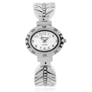 Geneva Platinum Adjustable Cuff Watch