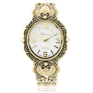 Geneva Platinum Women's Adjustable Cuff Watch|https://ak1.ostkcdn.com/images/products/10172854/P17300273.jpg?impolicy=medium