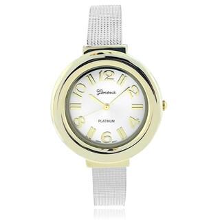 Geneva Platinum Women's Cuff Watch