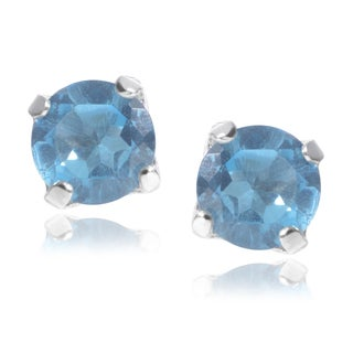 Journee Collection Sterling Silver Topaz Stud Earrings