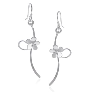 Journee Collection Sterling Silver Handmade Flower Dangle Earrings