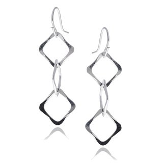 Journee Collection Sterling Silver Cut-Out Handmade Dangle Earrings