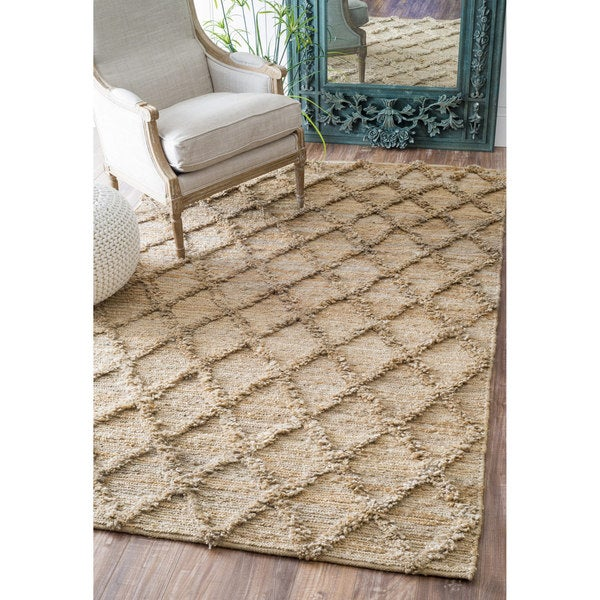 Shop Nuloom Casual Natural Fibers Handmade Trellis Jute